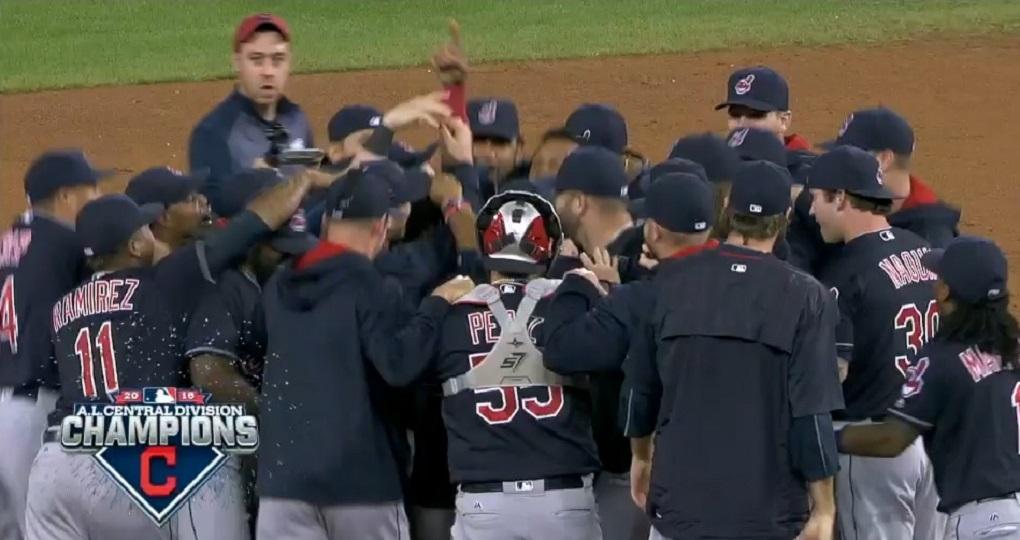 Cleveland Indians campeão AL Central MLB