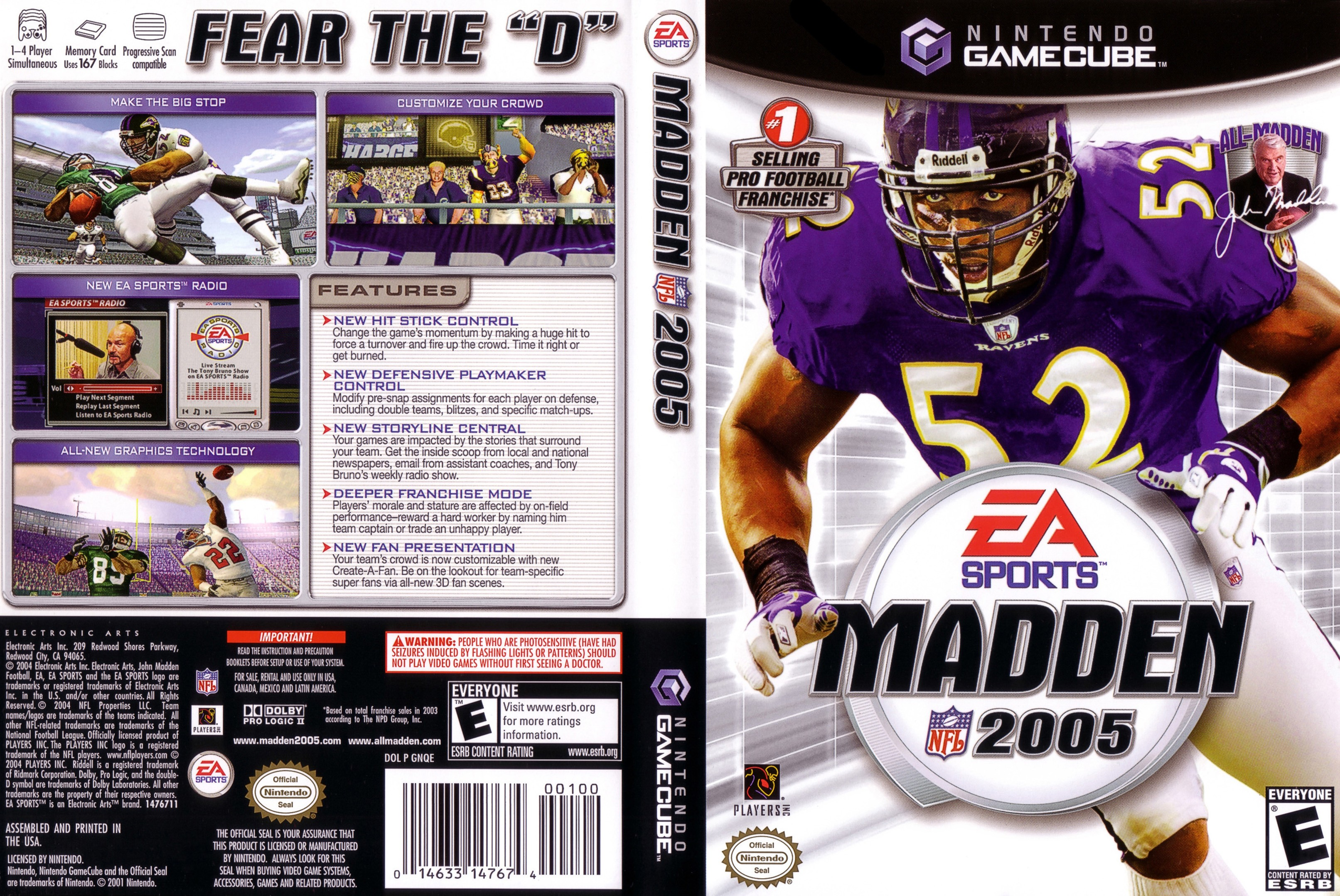 Madden cover 2005