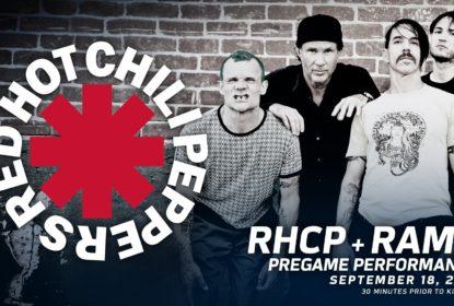 Red Hot Chilli Peppers Abre com show returno de Rams a LA