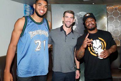 Karl-Anthony Towns joga Call of Duty com Marshawn Lynch e Michael Phelps - The Playoffs