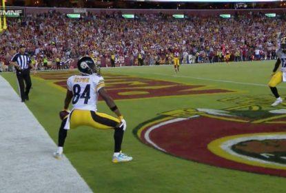 Antonio Brown faz dança estranha em vitória dos Steelers