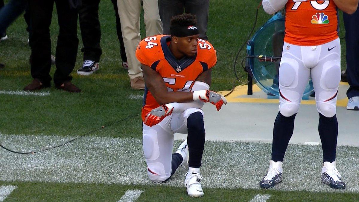 Brandon Marshall se ajoelha e apoia protesto de Colin Kaepernick