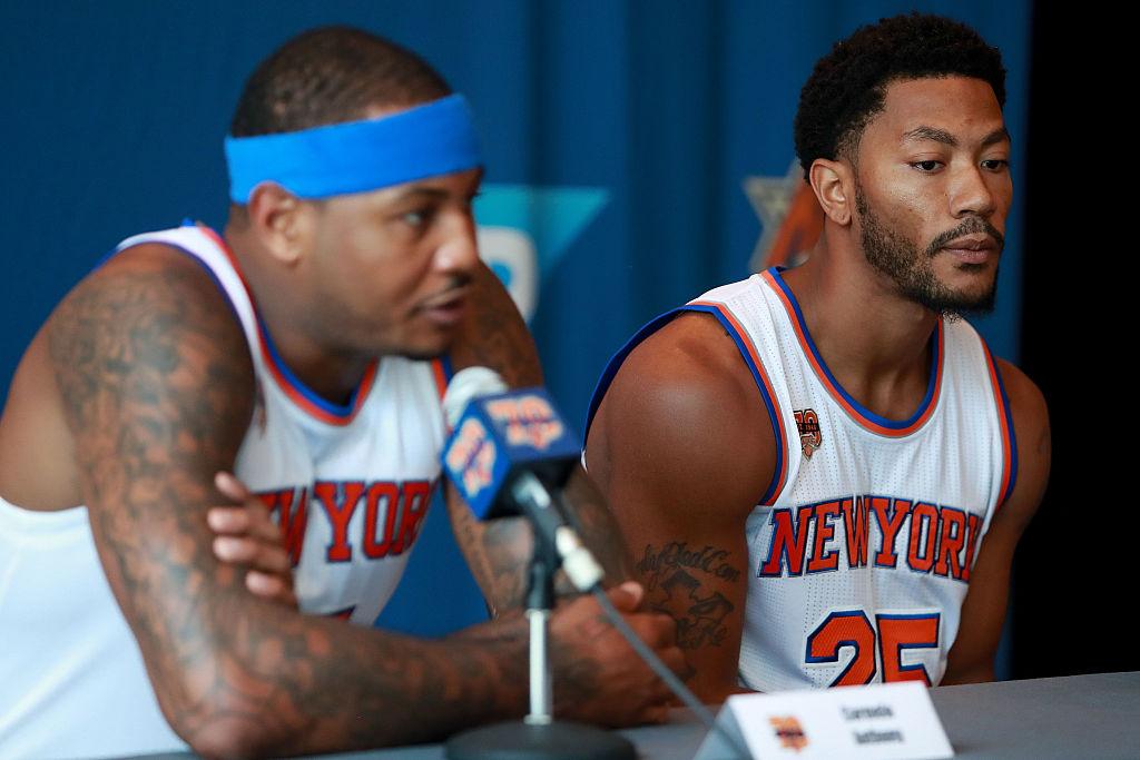 Carmelo Anthony e Derrick Rose prometem alegrias ao New York Knicks