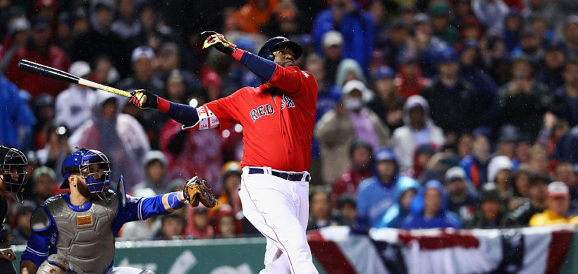 David Ortiz bate home run em jogo Red Sox e Blue Jays