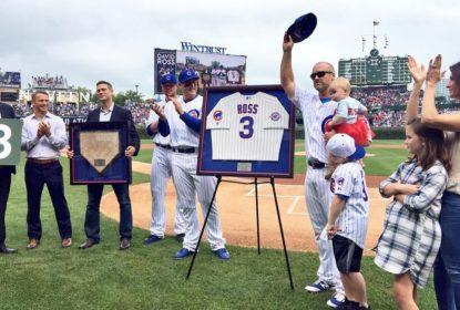 David Ross é homenageado pelos Cubs por sua carreira - The Playoffs