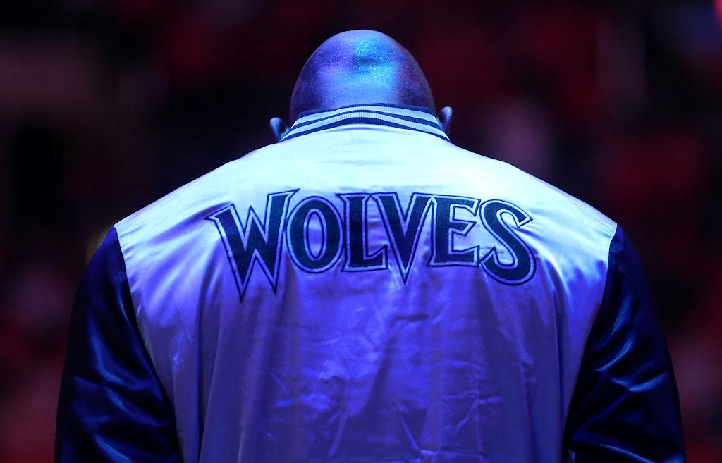 Garnett em jogo entre Timberwolves e Clippers, em 2015
