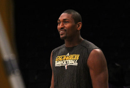 Metta World Peace em treino do Los Angeles Lakers