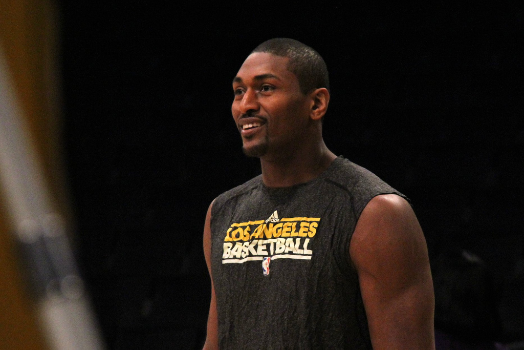 Metta World Peace em treino do Los Angeles Lakers