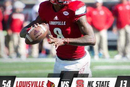 Lamar Jackson dá show e Louisville atropela NC State - The Playoffs