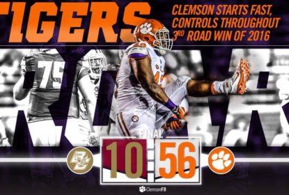 Deshaun Watson dá show e Clemson segue invicto no College Football - The Playoffs