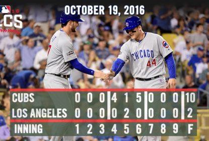 Chicago Cubs vence Los Angeles Dodgers por 10 a 2 em jogo 4 da NLCS - The Playoffs