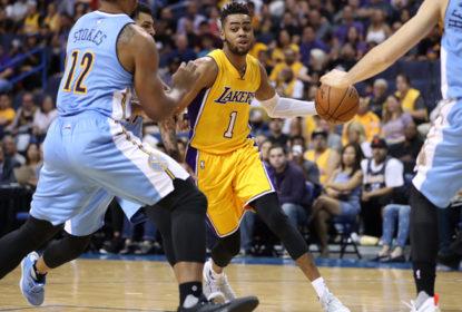 D'Angelo Russell desfalca Lakers por até duas semanas - The Playoffs
