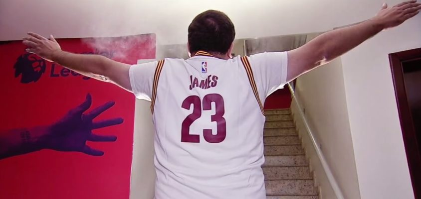 Everaldo Marques em comercial da NBA da ESPN