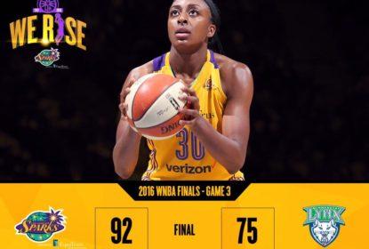 Nneka Ogwumike cobra lance-livre na vitória dos Sparks sobre o Lynx no Jogo 3 das Finais da WNBA
