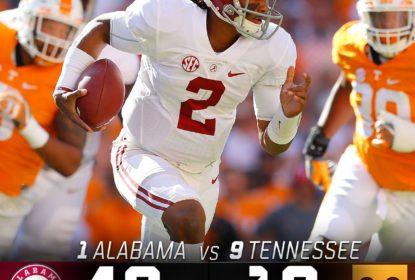 Alabama segue imbativél no College Football e vence Tennessee - The Playoffs