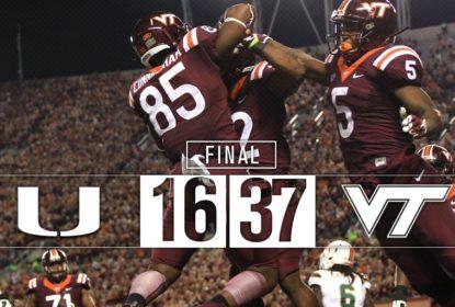 Na abertura da oitava semana do college football, Virginia Tech vence Miami Hurricanes - The Playoffs