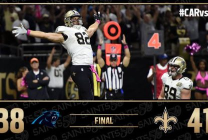 No retorno de Cam Newton, Carolina Panthers sai derrotado pelo New Orleans Saints - The Playoffs