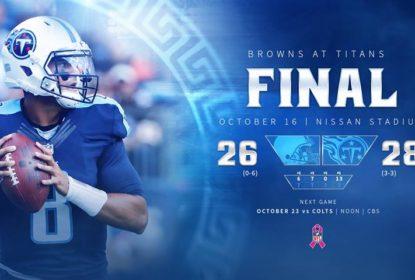 Tennessee Titans vence a primeira em casa contra o Cleveland Browns - The Playoffs