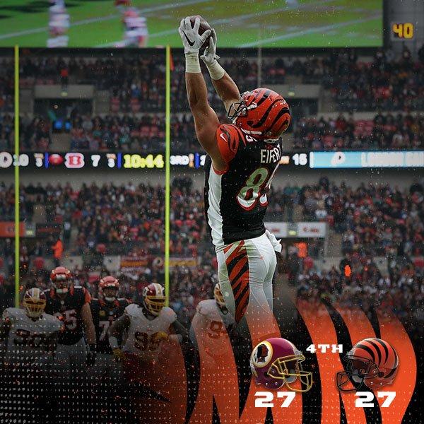 Redskins e Bengals protagonizaram mais um empate na temporada