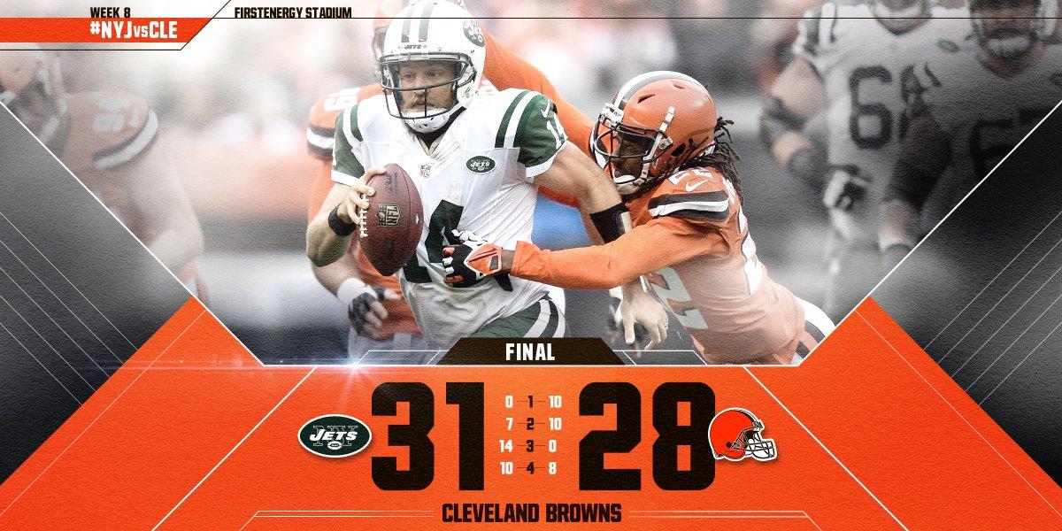 Cleveland Browns segue sem vencer na temporada
