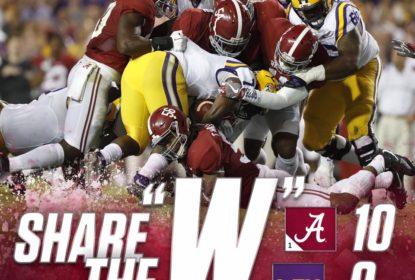Alabama vence LSU em jogo de placar apertado e segue invicta na SEC - The Playoffs