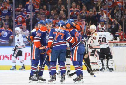 Em jogo impecável, Edmonton Oilers goleia Chicago Blackhawks - The Playoffs