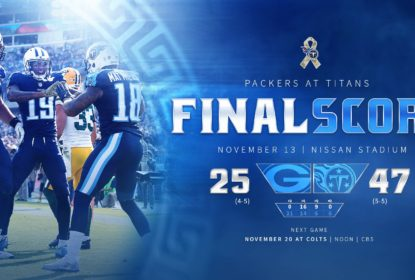 Tennessee Titans impõe o ritmo do jogo e domina o Green Bay Packers - The Playoffs