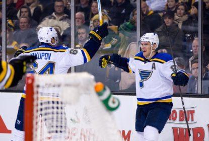 Blues viram em Boston e chegam a quarta vitória seguida na NHL - The Playoffs
