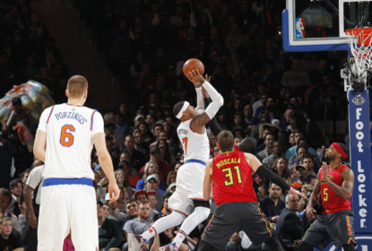 Carmelo lidera Knicks em vitória sobre os Hawks - The Playoffs