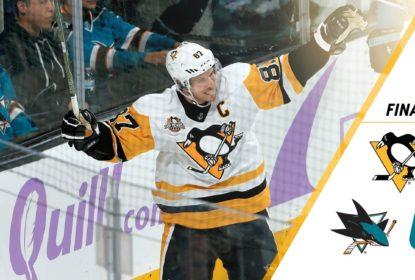 Penguins vencem Sharks por 5 a 0