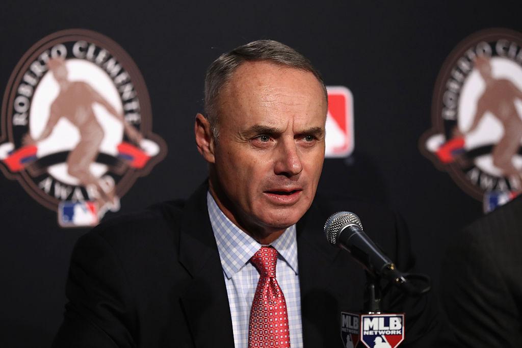 Rob Manfred é comissário da MLB