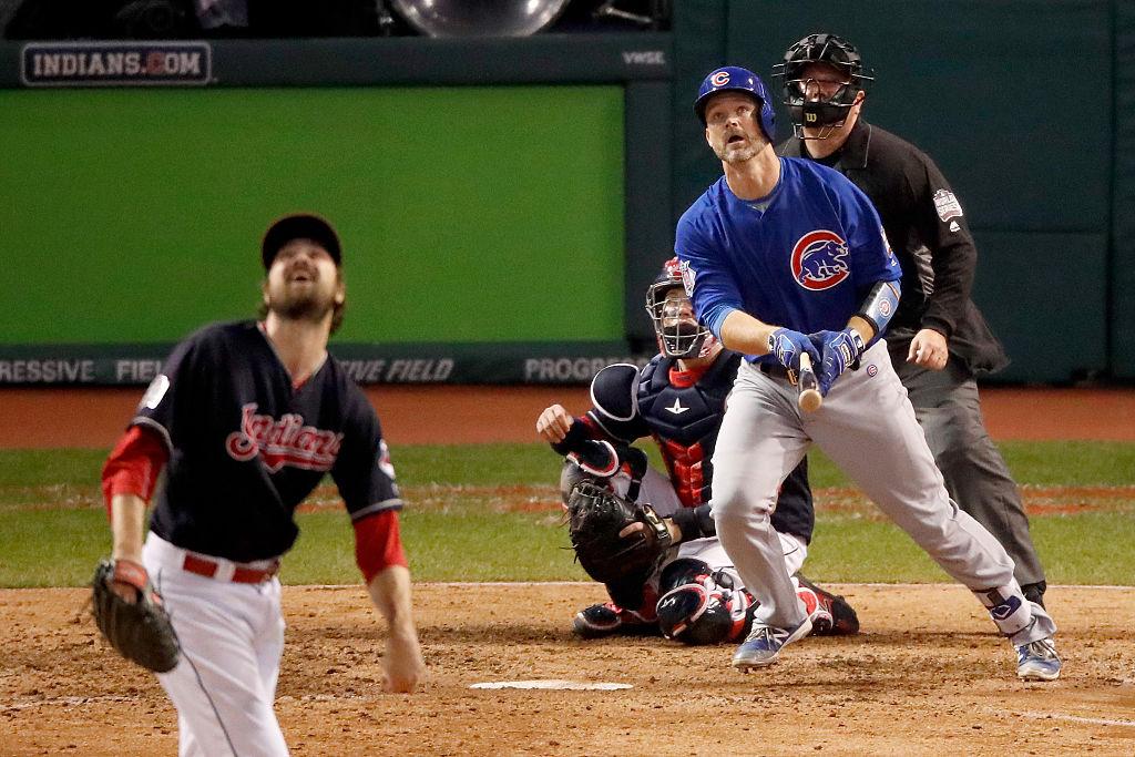 David Ross bate home run para os Cubs no jogo 7 da World Series