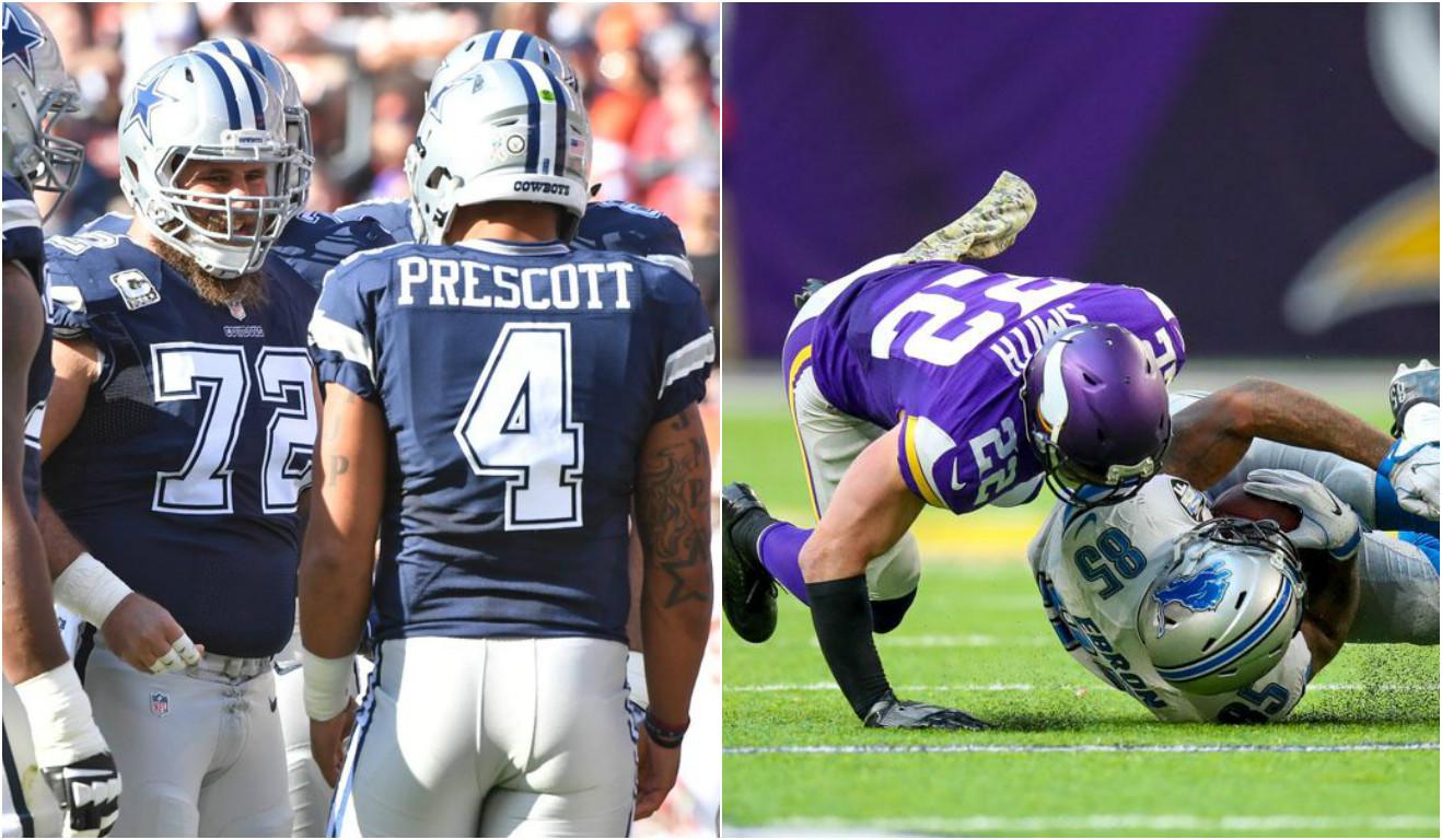 Cowboys imparáveis e Vikings em queda livre