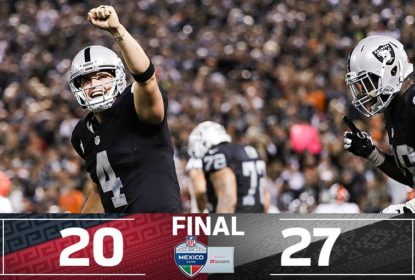 Na volta da NFL ao México, Raiders vencem Texans - The Playoffs