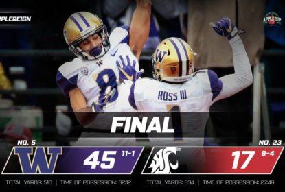 Washington vence Washington State com facilidade e leva título da PAC-12 Norte - The Playoffs