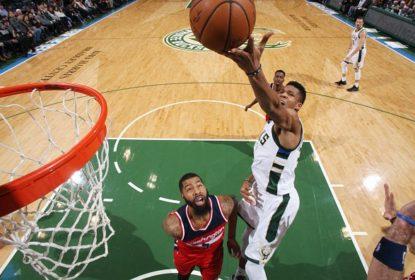 Com Antetokounmpo em grande noite, Bucks passam pelos Wizards - The Playoffs