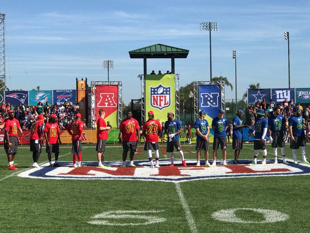 Pro Bowl começou com duelo de habilidades