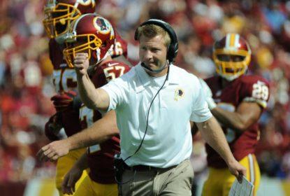 Novo head coach dos Rams, Sean McVay, quando ainda era coordenador ofensivo dos Redskins.