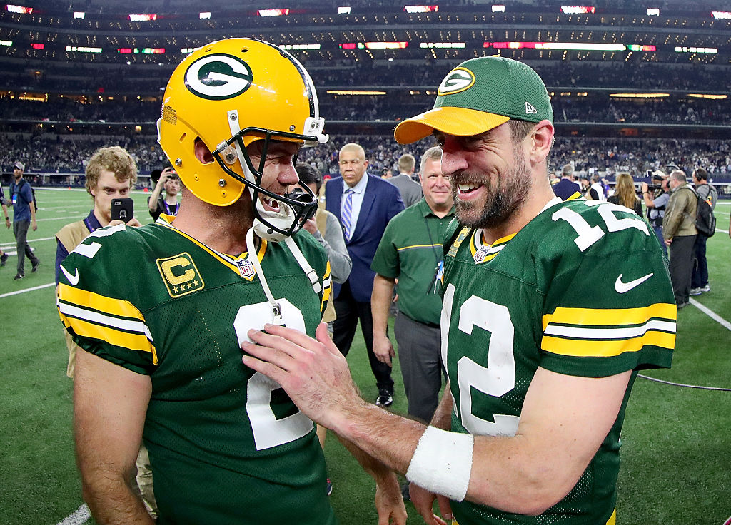 Crosby e Rodgers comemoram vitória dos Packers contra os Cowboys