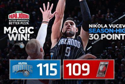 Vucevic brilha, Payton contribui e Magic supera Blazers - The Playoffs