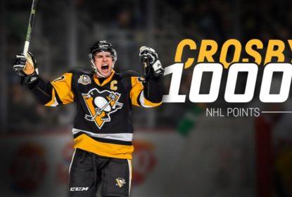 Na partida do milésimo ponto de Sidney Crosby, Penguins batem Jets no overtime - The Playoffs