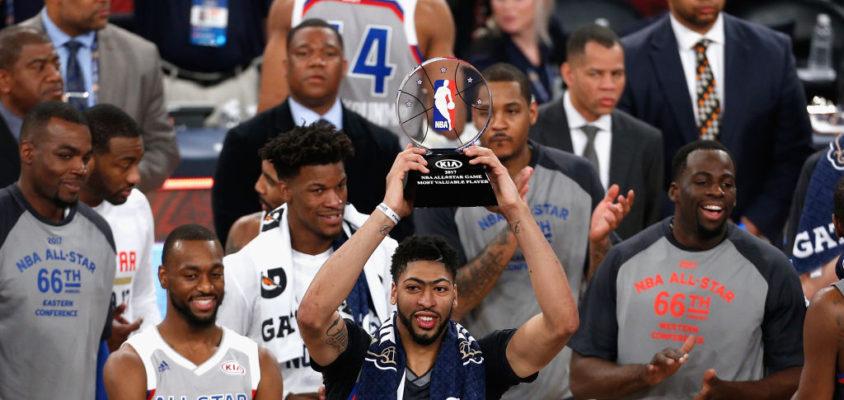 Anthony Davis vence o prêmio de MVP do All-Star Game- 2017