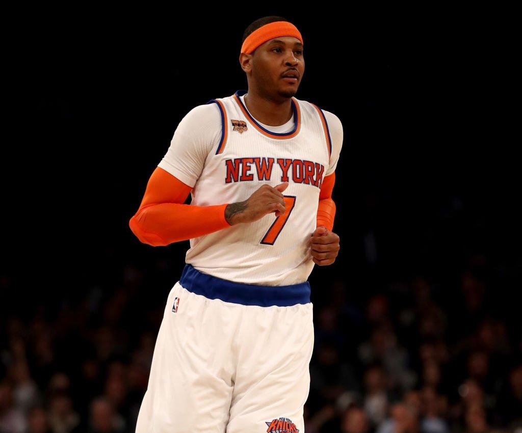 Carmelo Anthony lidera Knicks contra os Spurs