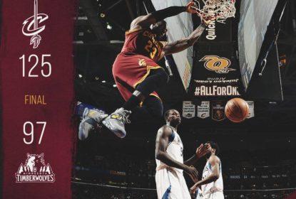 Cleveland Cavaliers volta a vencer com lavada contra Minnesota Timberwolves - The Playoffs