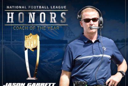 Jason Garrett recebe o prêmio de melhor técnico do ano na NFL - The Playoffs