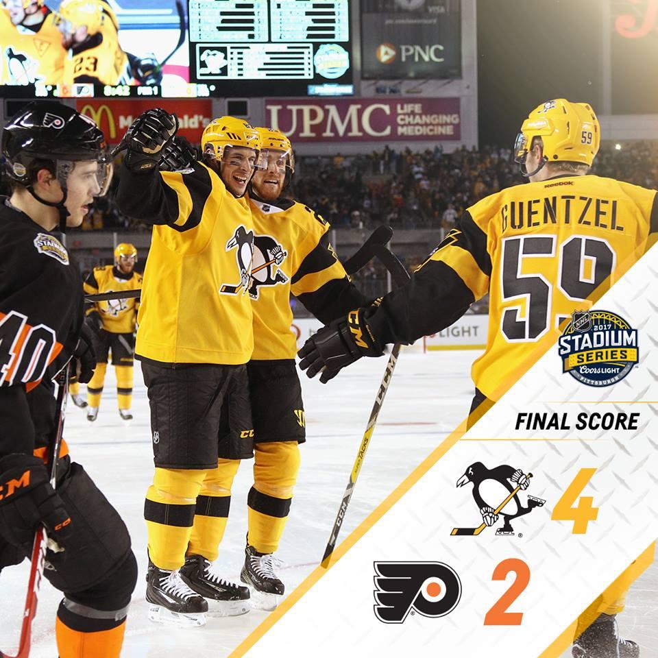 Pittsburgh Penguins derrota Philadelphia Flyers no Stadium Series da NHL