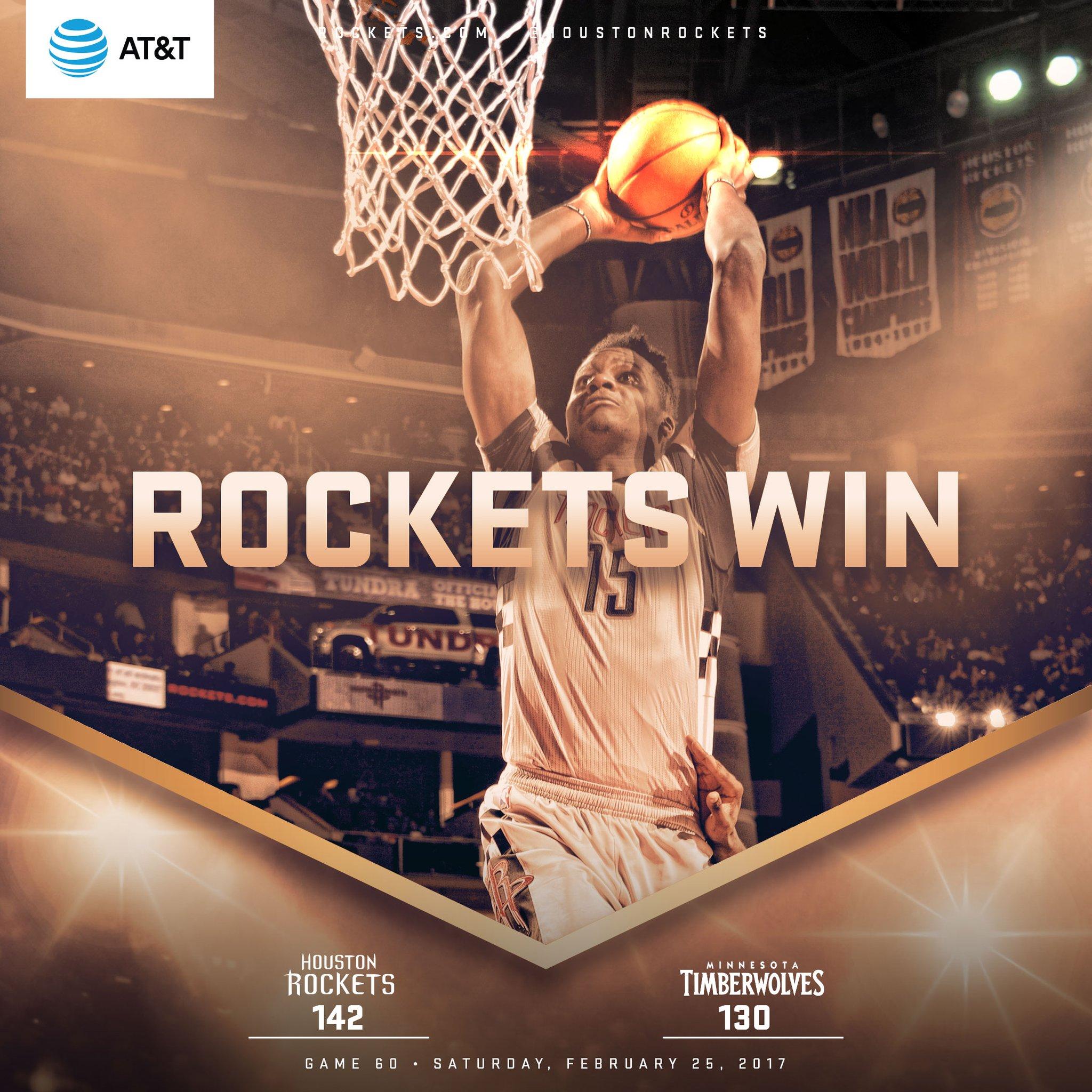 Rockets vencem Wolves em jogo de pontuação recorde