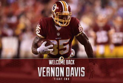 Vernon Davis anuncia renovação de contrato com o Washington Redskins - The Playoffs