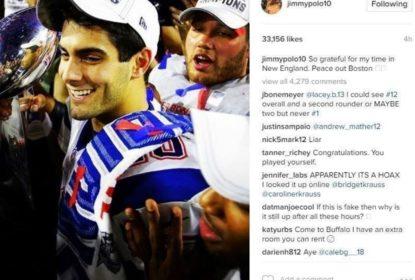 Jimmy Garoppolo tem conta hackeada com mensagem de despedida dos Patriots - The Playoffs