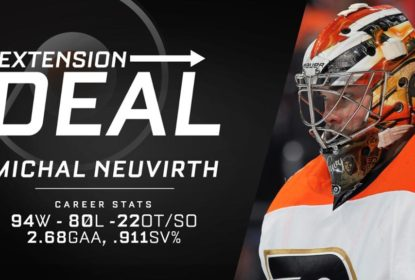 Philadelphia Flyers assina extensão de contrato por 2 anos com Michal Neuvirth - The Playoffs